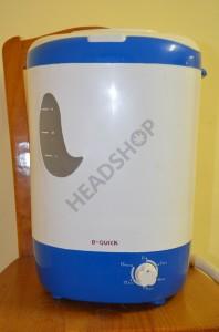 El Bubbleator, con indicador del nivel de agua y temporizador