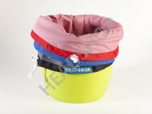 Fijación de las bolsas Ice-O-Lator en la cubeta