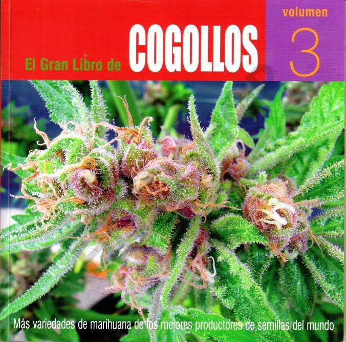 Libro sobre marihuana con grandes y excelentes fotos de grandes cogollos.