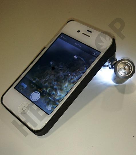 Lupa en funcionamiento en Iphone