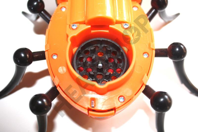 Detalle del grinder del Bud Bug
