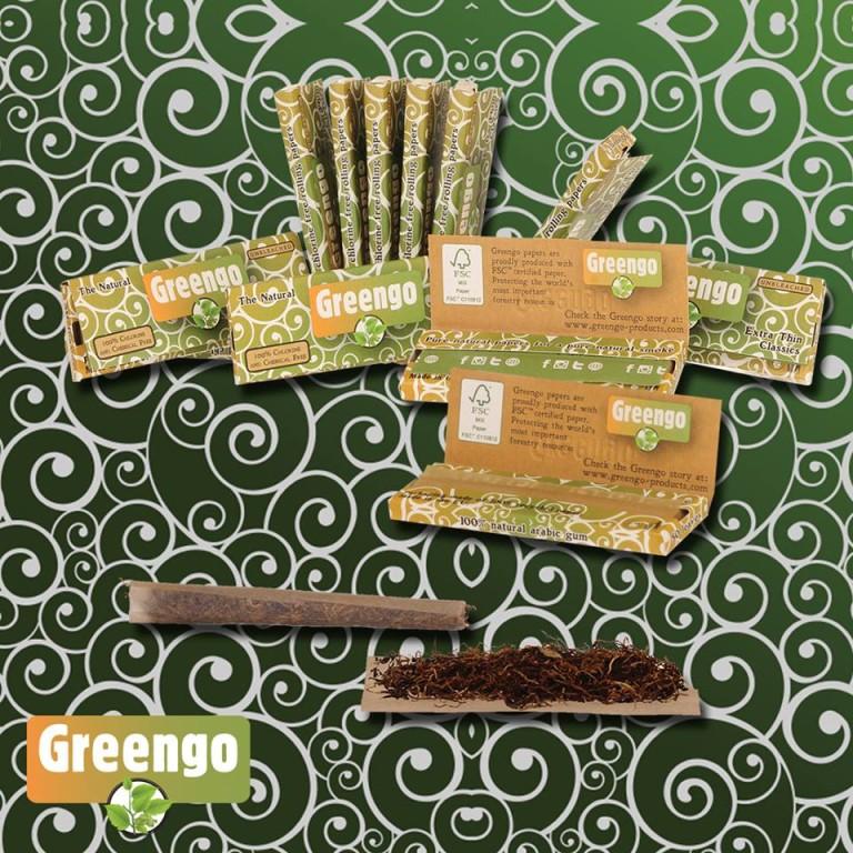 Diferentes papel de fumar Greengo