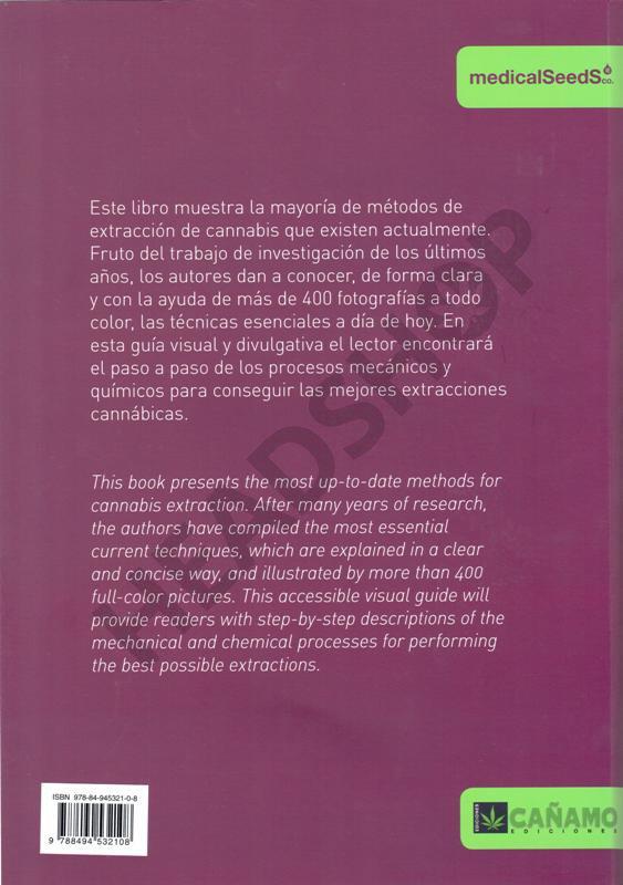 Contraportada del libro de extracciones cannabicas