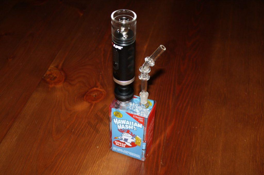 Vaporizador acoplado a un Bubbler