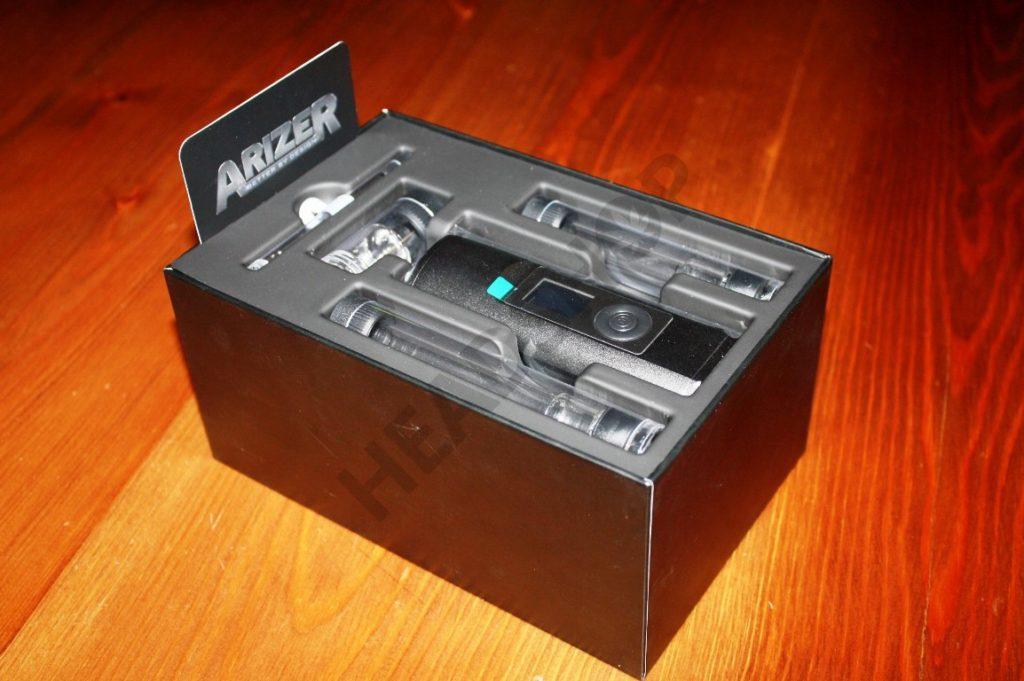 Caja del vaporizador con los complementos