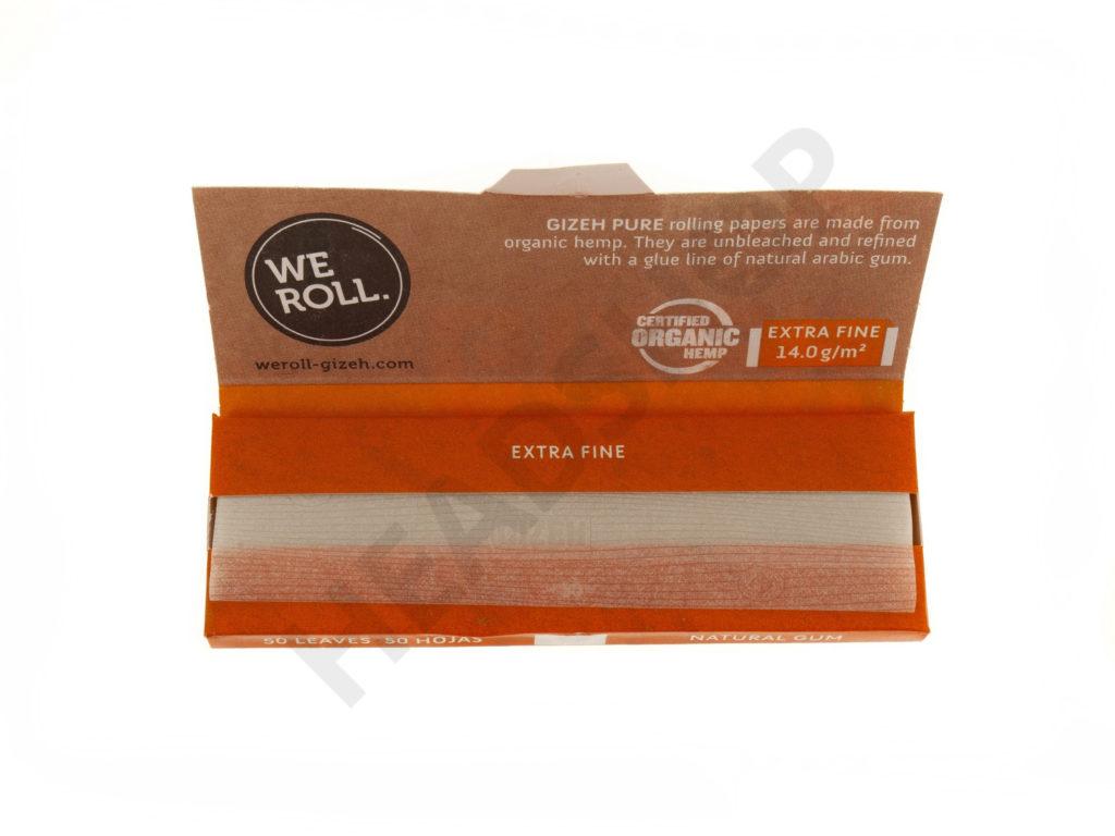 Gizeh Pure 1/4 Extra Fine, papel de cáñamo orgánico sin blanquear